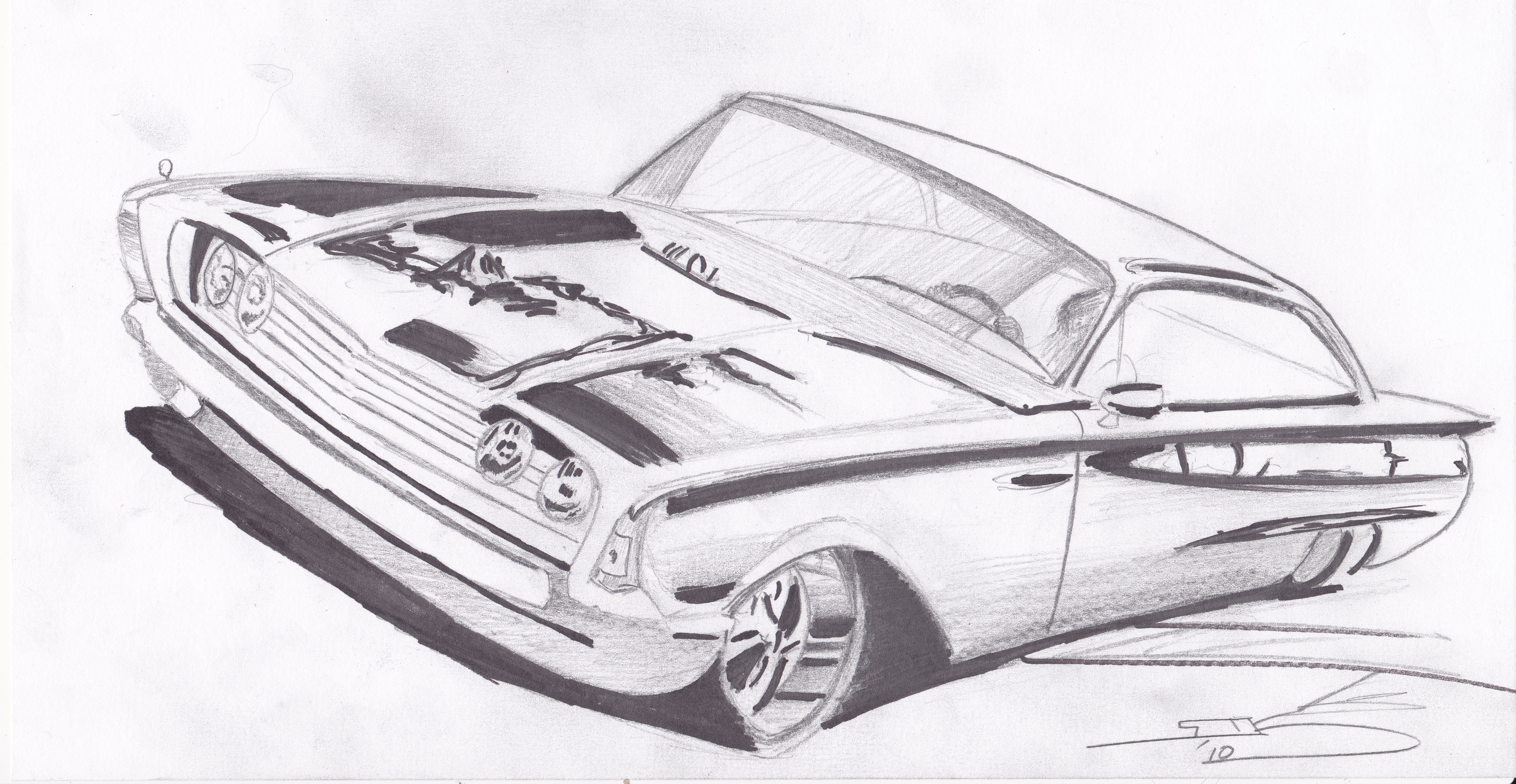 A few of Sol\'s recent car drawings   all you need is love.